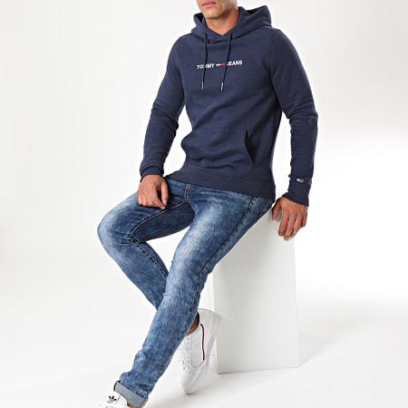 Tommy Hilfiger Jeans - Sweat Capuche Straight Logo 7030 Bleu Marine
