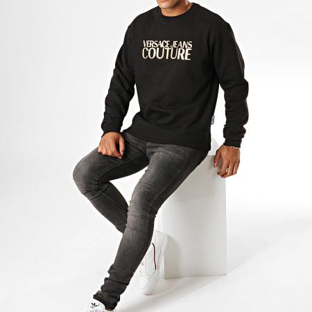 Versace Jeans Couture - Sweat Crewneck UUM302 Logo B7GUB7K0-30220 Noir Doré