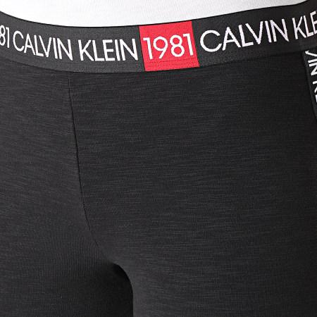 Calvin Klein - Legging Femme A Bandes Brodées 6316 Noir