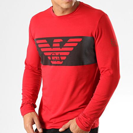 EA7 - Tee Shirt Manches Longues 6GPT59-PJQ9Z Rouge