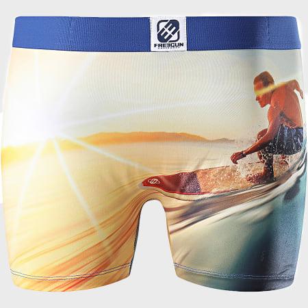 Freegun - Boxer Print Surf Jaune
