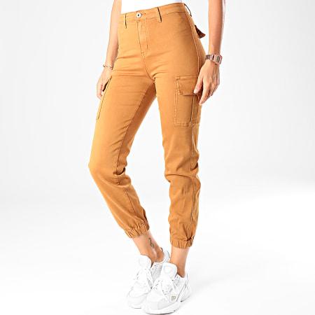 Girls Only - Pantalon Cargo Femme DZ106 Camel