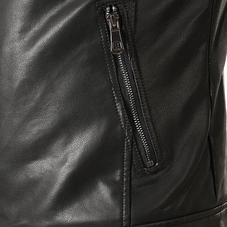 MTX - Veste Biker Col Mouton 928 Noir