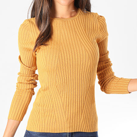 Only - Pull Femme Natalia Ocre