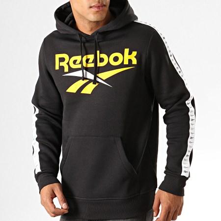 Reebok Sweat Capuche A Bandes Classic Vector EB3636 Noir