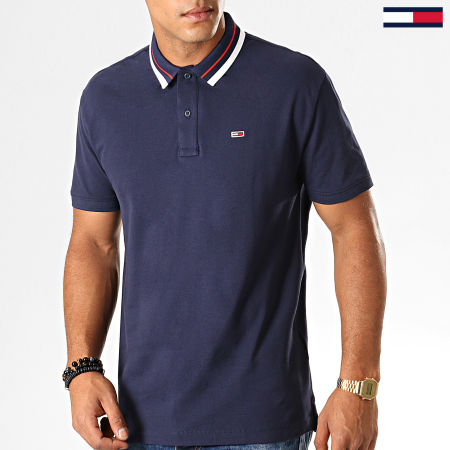 Tommy Jeans - Polo Manches Courtes Classics Tipped 7195 Bleu Marine