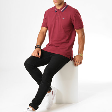 Tommy Hilfiger Jeans - Polo Manches Courtes Classics Tipped 7195 Bordeaux