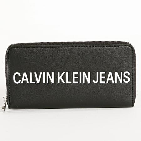 Calvin Klein - Portefeuille Femme Sculpted Zip Around 5900 Noir