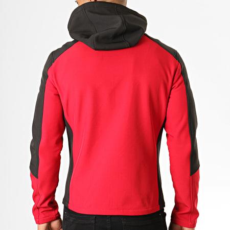 MTX - Veste Zippée Capuche 937-K1 Rouge Noir