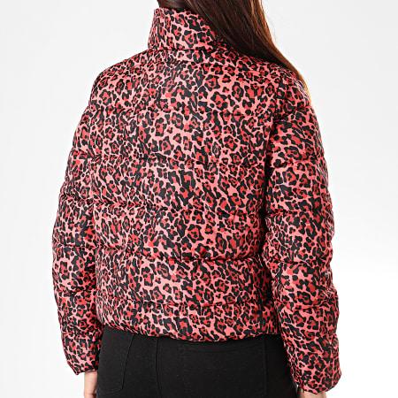 Noisy May - Doudoune Femme Manon Rose Leopard