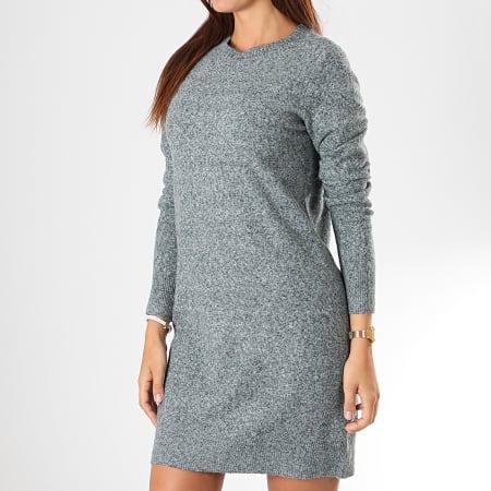 Vero Moda - Robe Pull Femme Doffy Vert Chiné