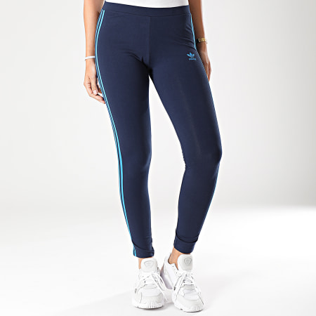 adidas - Legging Femme A Bandes 3 Stripes EJ9022 Bleu Marine