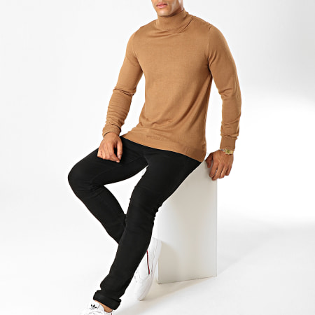 Frilivin - Pull Col Montant M826 Camel