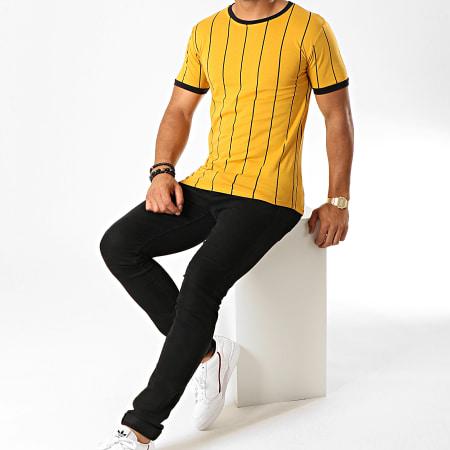 Frilivin - Tee Shirt A Rayures 5351 Jaune Moutarde