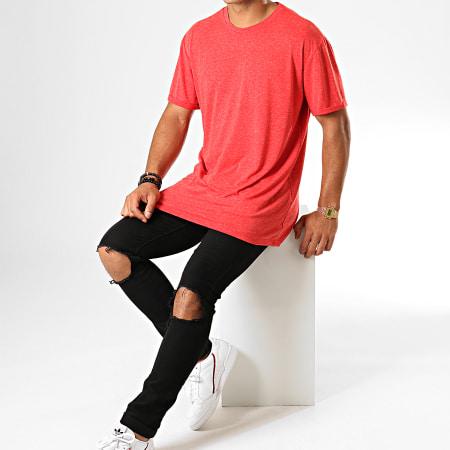 Frilivin - Tee Shirt Oversize 5349 Rouge Chiné