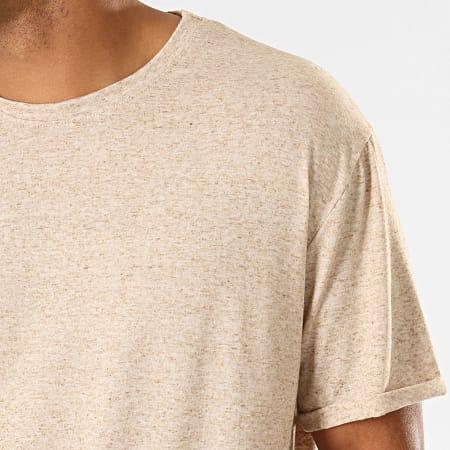 Frilivin - Tee Shirt Oversize 5349 Beige Chiné