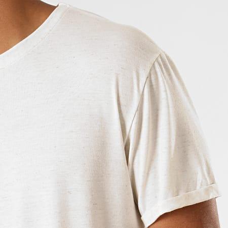 Frilivin - Tee Shirt Oversize 5349 Ecru Chiné