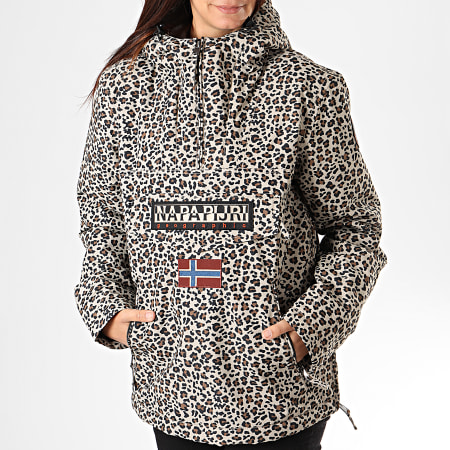 Napapijri - Veste Outdoor Femme Rainforest N0YITF Beige Leopard