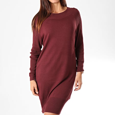 Only - Robe Pull Femme Lacey Bordeaux