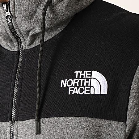 The North Face - Sweat Zippé Capuche Himalayan 3OD4 Gris Chiné Noir