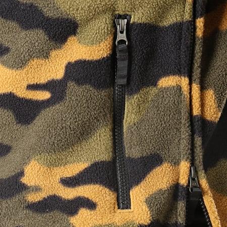 The North Face - Veste Polaire Col Zippé Denali Anorak 2 3XAV Noir Vert Kaki Camouflage