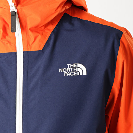 The North Face - Coupe-Vent Waterproof 3XZM Orange Bleu Marine