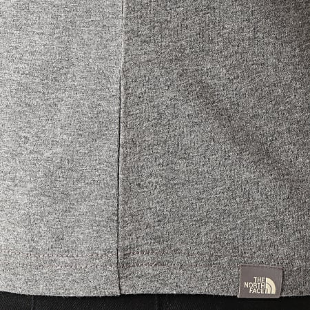 The North Face - Tee Shirt Fine CEQ5 Gris Anthracite Chiné