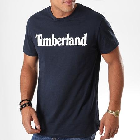 Timberland - Tee Shirt KR Linear 1YUY Bleu Marine Blanc
