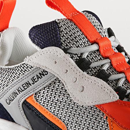 Calvin Klein - Baskets Marvin Low Top Lace Up Nylon S0592 Navy Light Grey Orange