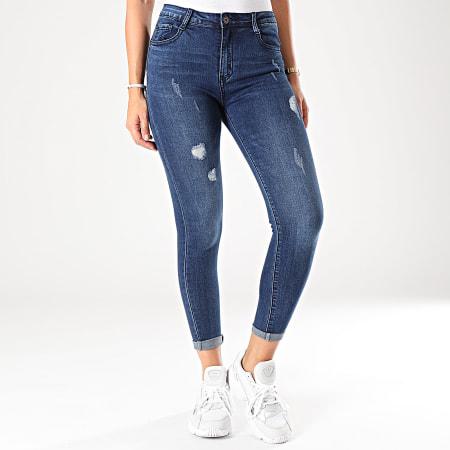 Girls Only - Jean Skinny Femme 100 Bleu Brut