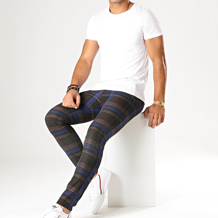 MTX - Pantalon A Carreaux DJ426 Marron