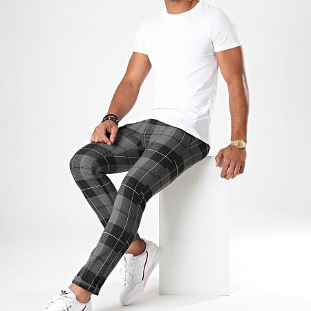 MTX - Pantalon A Carreaux DJ407 Gris Chiné