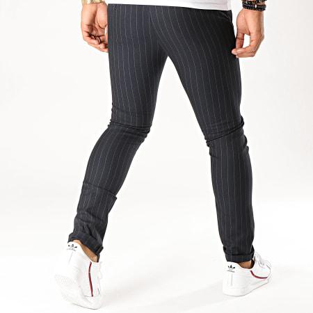 MTX - Pantalon A Rayures DJ416 Bleu Marine
