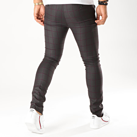 MTX - Pantalon A Carreaux DJ402 Gris Anthracite