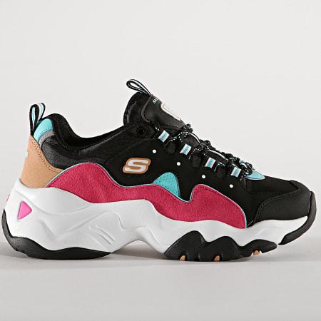 Skechers - Baskets Femme D'Lites 13378 Brave Output Black Blue Pink