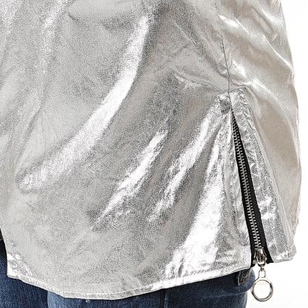 Uniplay - Veste Zippée Capuche Oversize T2377 Argenté