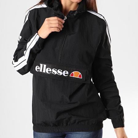 Ellesse - Veste Col Zippé Capuche Femme A Bandes Marnia SGC07384 Noir