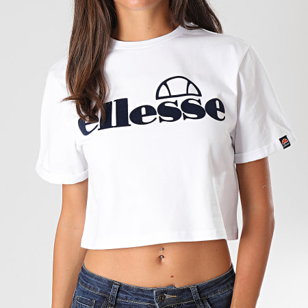 Ellesse - Tee Shirt Crop Femme Matamata SGC07464 Blanc