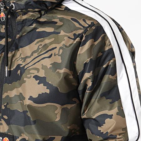 Ellesse - Coupe-Vent Col Zippé A Bandes Parmaso SHC05238 Vert Kaki Camouflage