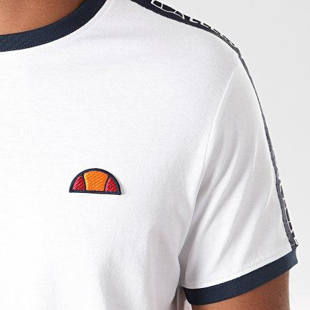 Ellesse - Tee Shirt Oversize A Bandes Fede SHC05907 Blanc