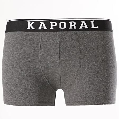 Kaporal - Lot De 3 Boxers Quad Noir Gris Vert Kaki