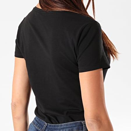 Kaporal - Tee Shirt Slim Col V Femme Xavra Noir