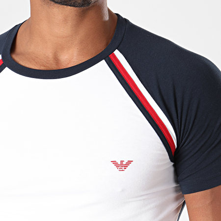 Emporio Armani - Tee Shirt 111856-9A529 Blanc Bleu Marine
