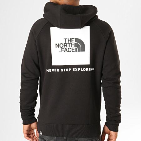 The North Face - Sweat Capuche Raglan Red Box 2ZWU Noir