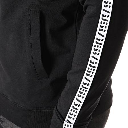 Guess - Veste Zippée A Bandes U94Q16-K6XF0 Noir