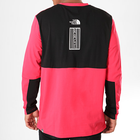 The North Face - Tee Shirt Manches Longues Rage Graphic 3XXF Rouge Noir