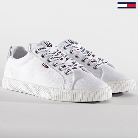 Tommy Hilfiger Jeans - Baskets Femme Casual Sneaker 0602 White