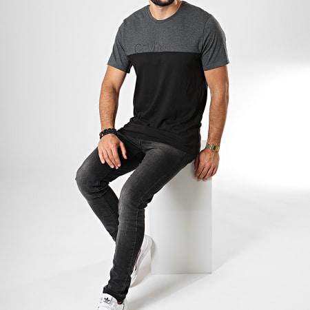 Calvin Klein - Tee Shirt NM1583E Noir Gris Anthracite