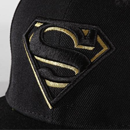 Superman - Casquette Snapback Original Logo Superman Noir Doré