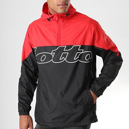 Lotto - Coupe-Vent Col Zippé Athletica III 211767 Rouge Noir